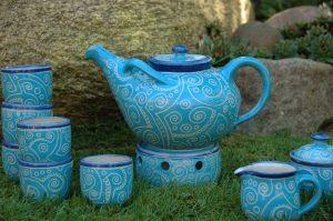 Serie Blau mit Muster