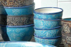 Serie Blau-Muster